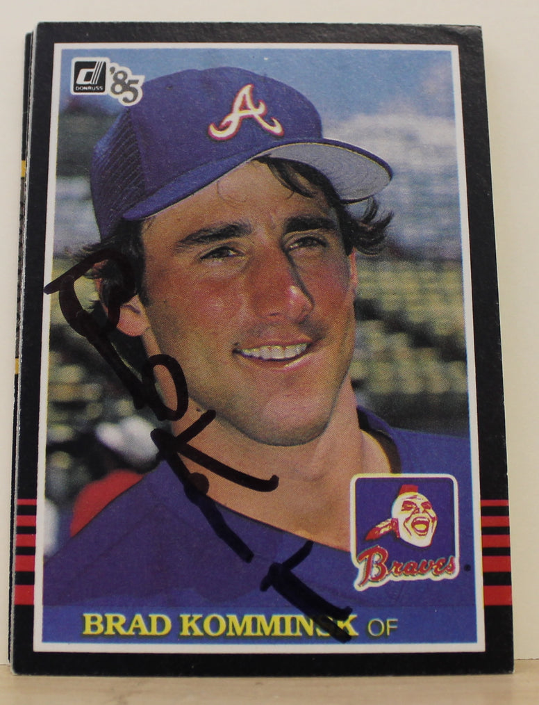 Brad Komminsk Atlanta Braves Autographed 1985 Donruss Card #321. This item comes with a certificate of authenticity from Autograph-Sports. PSM-Powers Sports Memorabilia