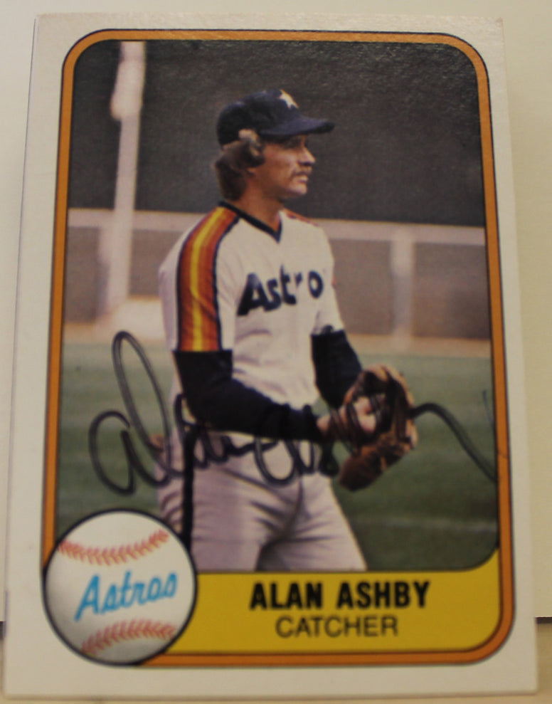 Alan Ashby Houston Astros Autographed 1981 Fleer Card #64. This item comes with a certificate of authenticity from Autograph-Sports. PSM-Powers Sports Memorabilia