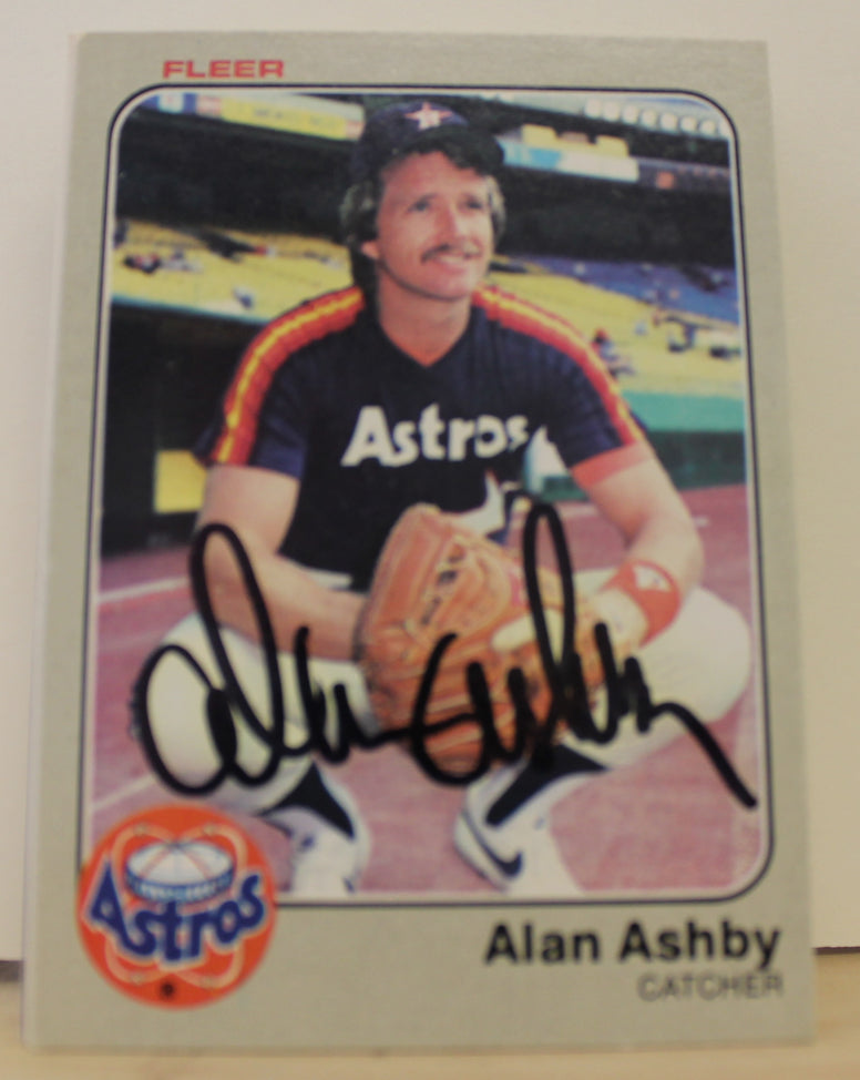 Alan Ashby Houston Astros Autographed Card 1983 Fleer #445. This item comes with a certificate of authenticity from Autograph-Sports. PSM-Powers Sports Memorabilia
