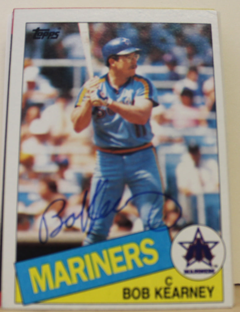 Bob Kearney Seattle Mariners Autographed 1985 Topps Card #679. This item comes with a certificate of authenticity from Autograph-Sports. PSM-Powers Sports Memorabilia