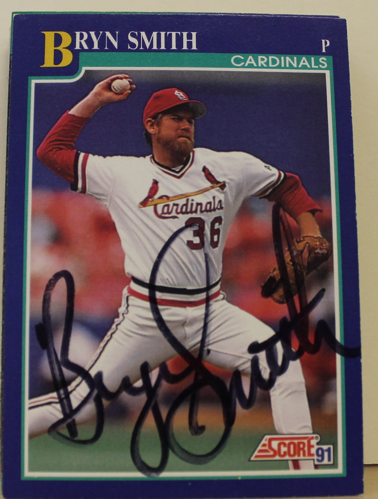 Bryn Smith St. Louis Cardinals Autographed 1991 Score Card #444. This item comes with a certificate of authenticity from Autograph-Sports. PSM-Powers Sports Memorabilia