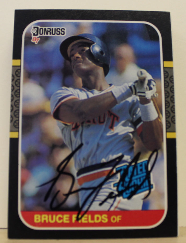 Bruce Fields Detroit Tigers Autographed 1987 Donruss Card #47. This item comes with a certificate of authenticity from Autograph-Sports. PSM-Powers Sports Memorabilia