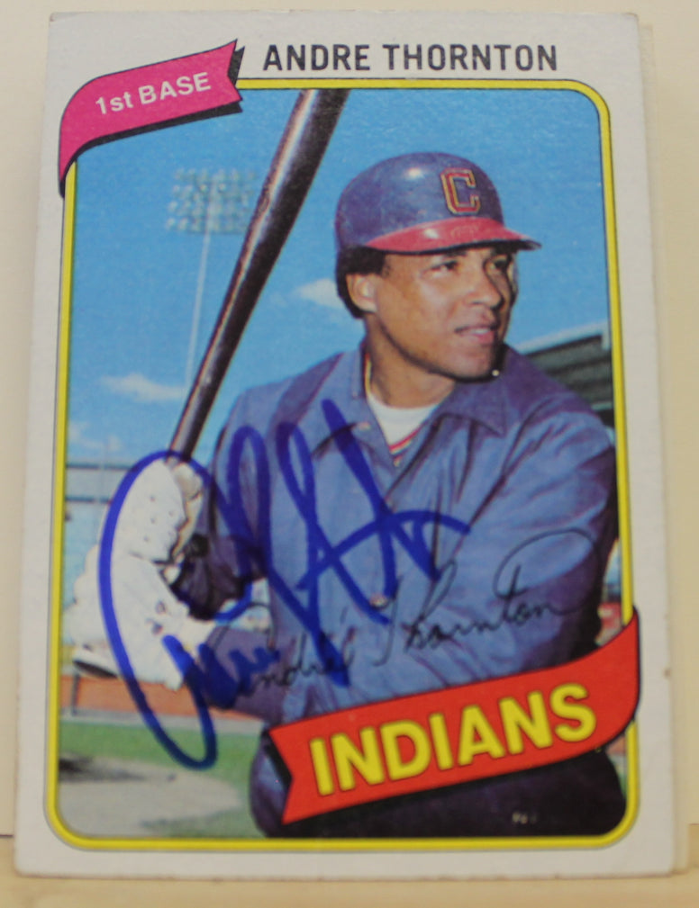 Andre Thornton Cleveland Indians Autographed 1980 Topps Card #534. This item comes with a certificate of authenticity from Autograph-Sports. PSM-Powers Sports Memorabilia