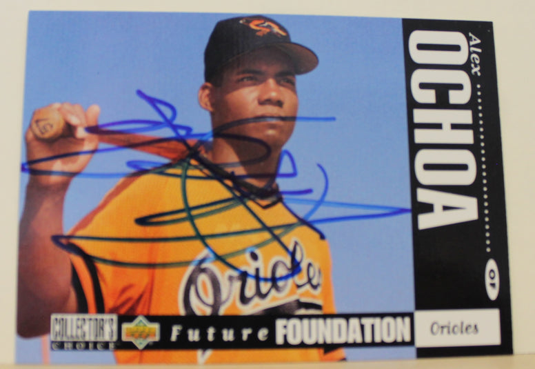 Alex Ochoa Baltimore Orioles Autographed 1994 Upper Deck Card #646. This item comes with a certificate of authenticity from Autograph-Sports. PSM-Powers Sports Memorabilia