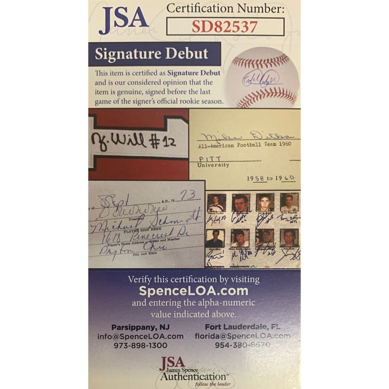 Adley Rutschman Baltimore Orioles Autographed 2019 #1 PICK Signed Baseball JSA COA With UV Display Case-Powers Sports Memorabilia