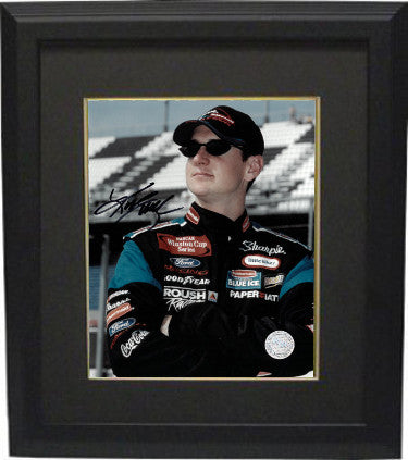 Kurt Busch signed NASCAR Sharpie 8x10 Photo Custom Framed (close up) PSM-Powers Sports Memorabilia