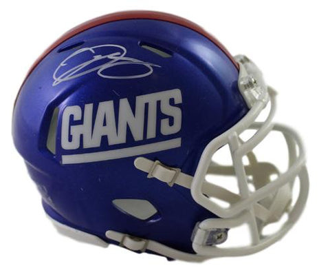 Odell Beckham Jr Autographed New York Giants Color Rush Mini Helmet JSA PSM