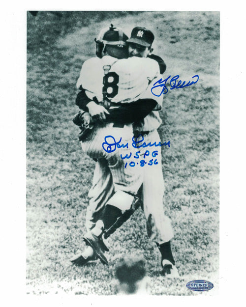 Yogi Berra & Don Larsen Autographed New York Yankees 8x10 Photo STE PSM