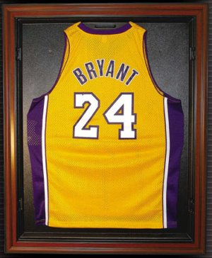 Basketball Jersey Deluxe Full Size Mahogany Display Case PSM-Powers Sports Memorabilia