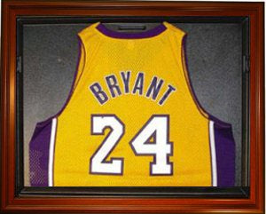 Basketball Jersey Deluxe Half Display Case Wood PSM-Powers Sports Memorabilia