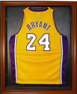 Basketball Jersey Deluxe Full Size Display Case Wood PSM-Powers Sports Memorabilia