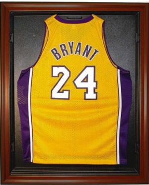 Basketball Jersey Deluxe Full Size Display Case Mahogany PSM-Powers Sports Memorabilia