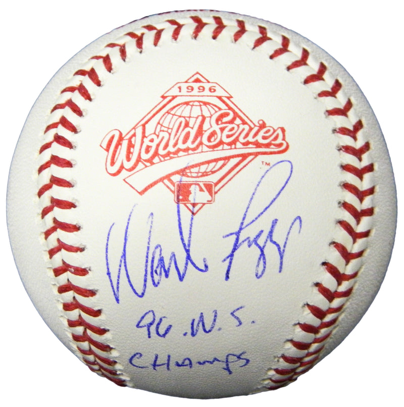 Wade Boggs Signed Rawlings 1996 World Series (New York Yankees) Baseball w/96 WS Champs PSM-Powers Sports Memorabilia