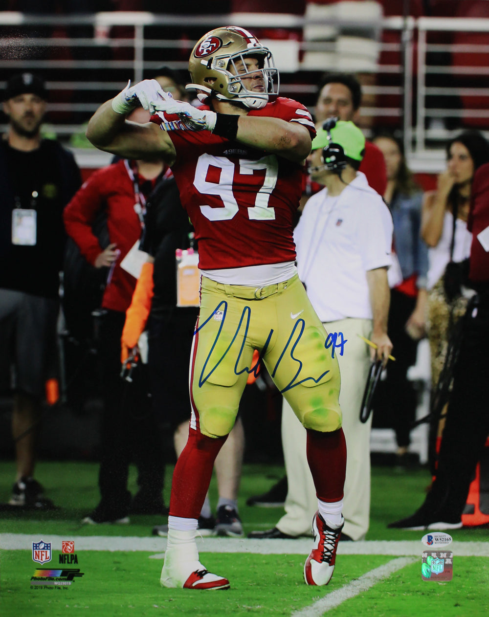 Nick Bosa Autographed/Signed San Francisco 49ers 16x20 Photo BAS PF PSM-Powers Sports Memorabilia