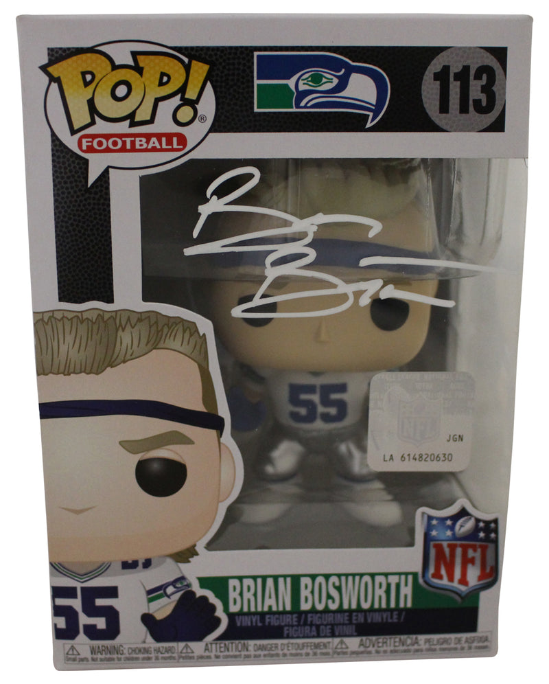Brian Bosworth Autographed Seattle Seahawks NFL Funko Pop #113 BAS PSM-Powers Sports Memorabilia