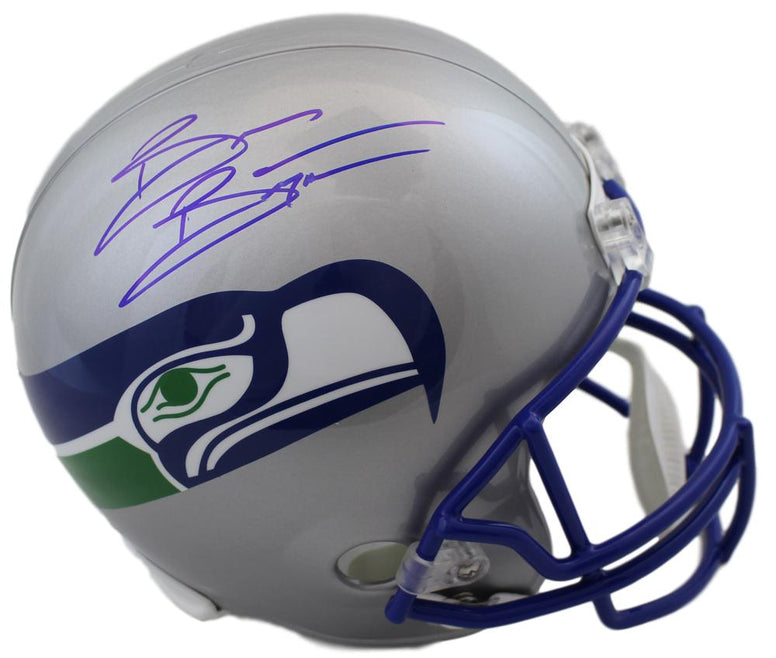 Brian Bosworth Autographed Seattle Seahawks Full Size Replica Helmet JSA PSM-Powers Sports Memorabilia