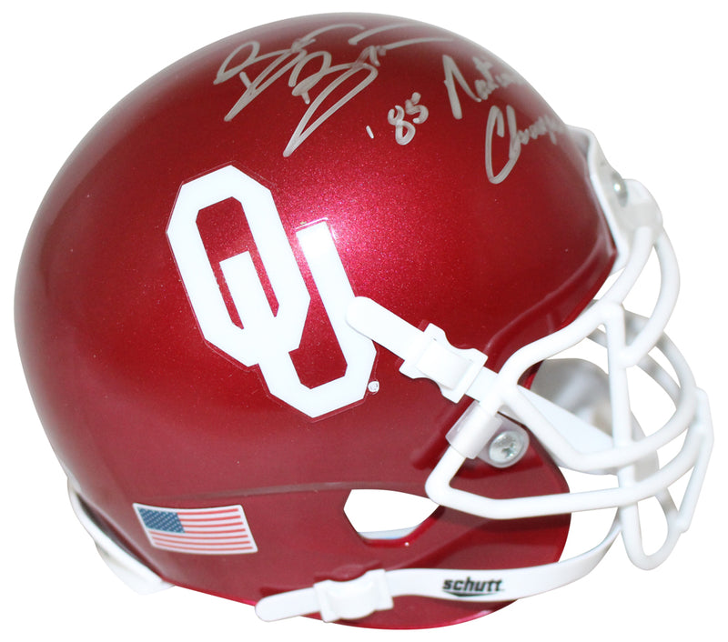 Brian Bosworth Autographed Oklahoma Sooners Mini Helmet Champs BAS PSM-Powers Sports Memorabilia