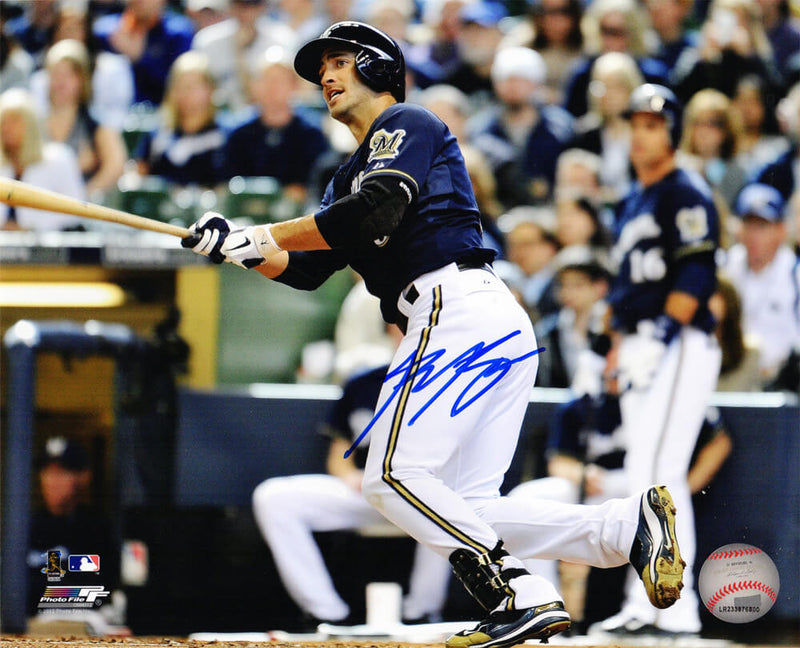 Ryan Braun Signed Milwaukee Brewers Action Horizontal 8x10 Photo PSM-Powers Sports Memorabilia