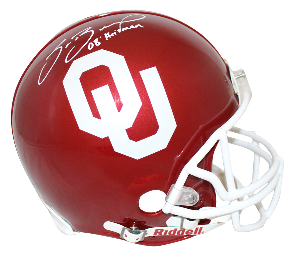Sam Bradford Signed Oklahoma Sooners Authentic Helmet Heisman BAS PSM-Powers Sports Memorabilia