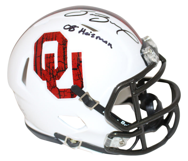 Sam Bradford Signed Oklahoma Sooners Wood Mini Helmet Heisman BAS PSM-Powers Sports Memorabilia