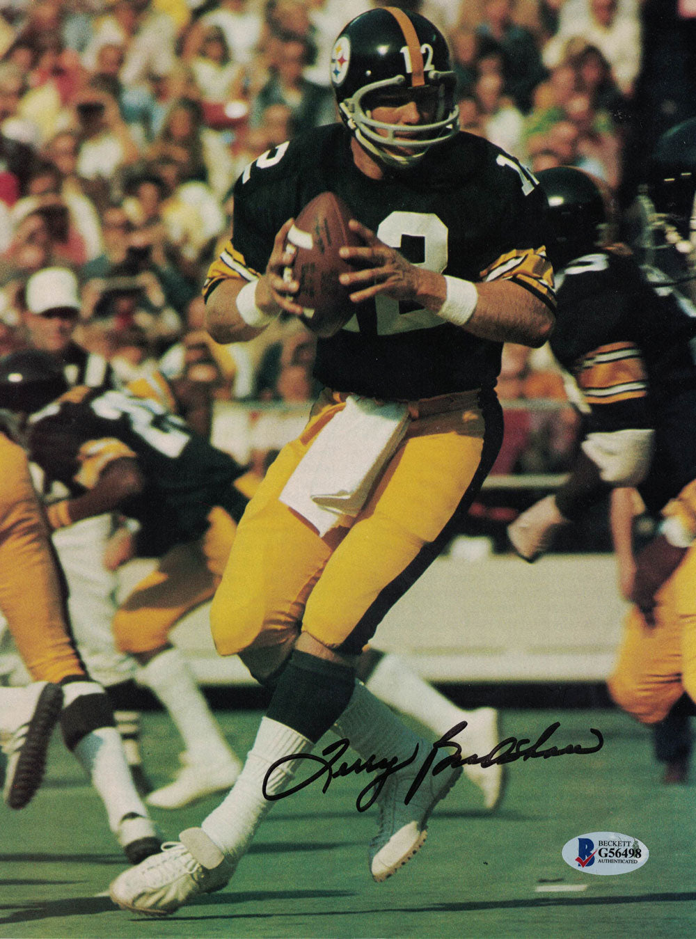 Terry Bradshaw Autographed/Signed Pittsburgh Steelers Magazine Page BAS PSM-Powers Sports Memorabilia