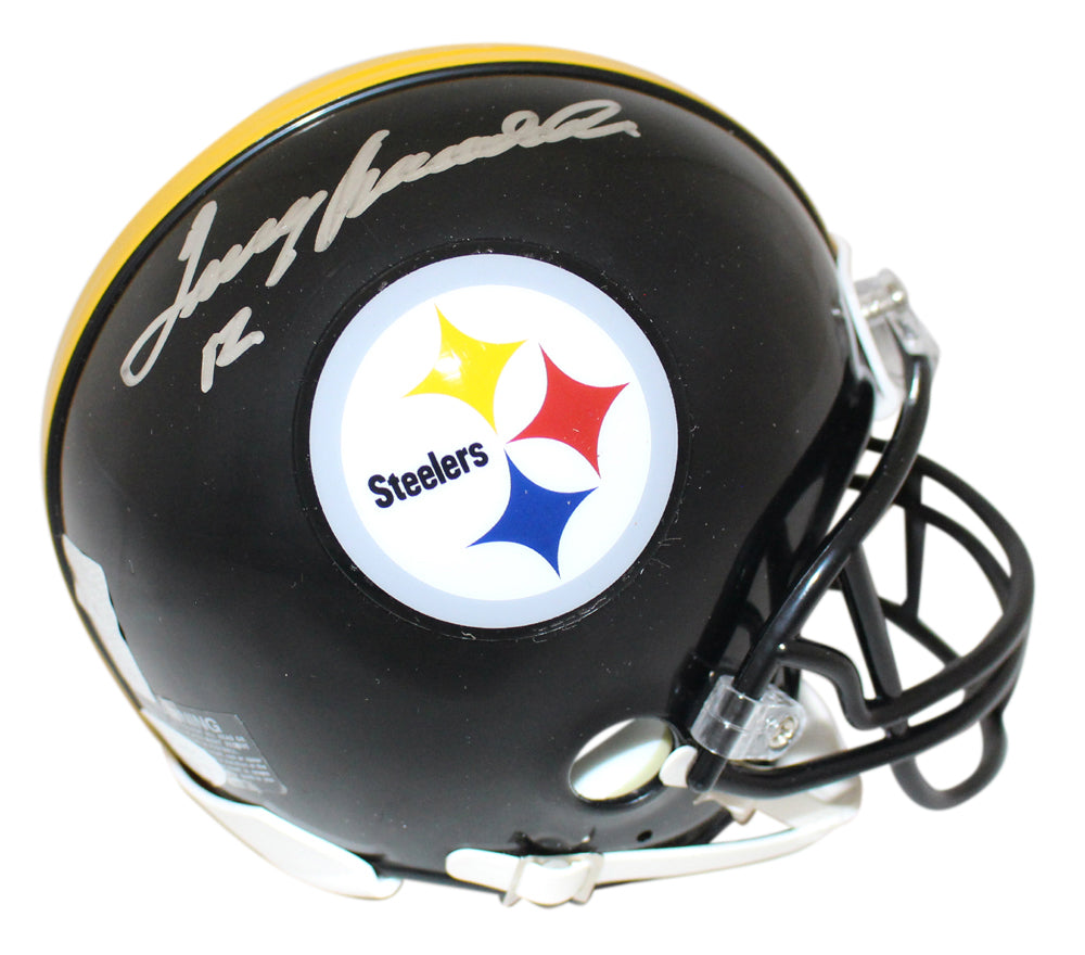 Terry Bradshaw Autographed Pittsburgh Steelers Mini Helmet JSA PSM-Powers Sports Memorabilia