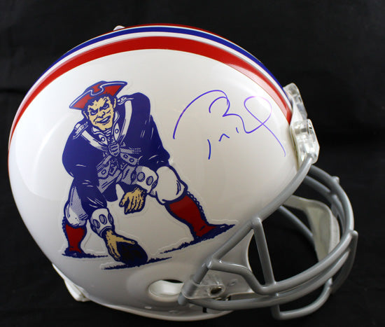 Tom Brady Autographed New England Patriots T/B Proline Helmet TRI PSM-Powers Sports Memorabilia