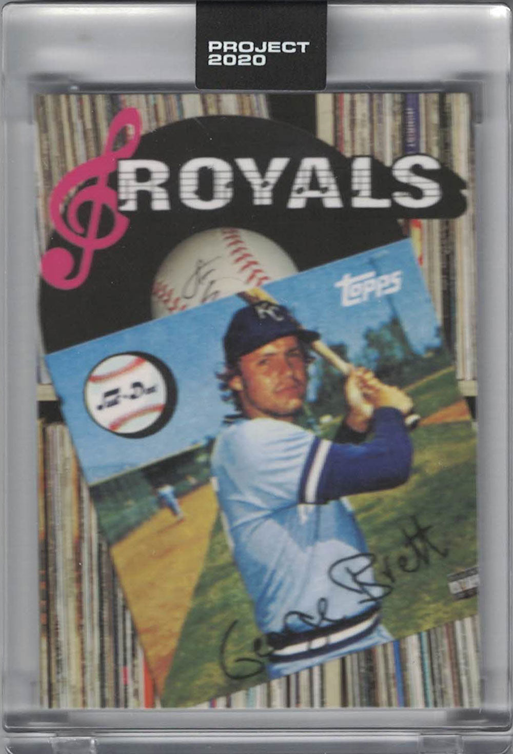 George Brett Kansas City Royals 2020 Topps Project #212 Artist Trading Card PSM-Powers Sports Memorabilia