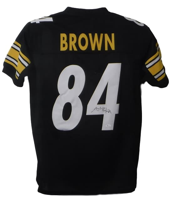 Antonio Brown Autographed Pittsburgh Steelers Black Size XL Jersey (On #4) JSA PSM-Powers Sports Memorabilia