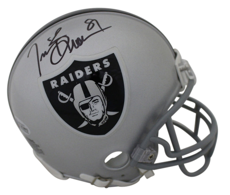 Tim Brown Autographed/Signed Oakland Raiders Mini Helmet BAS PSM-Powers Sports Memorabilia