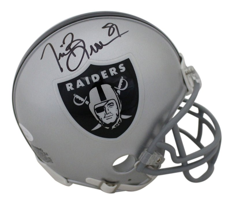 Tim Brown Autographed/Signed Oakland Raiders Mini Helmet JSA PSM-Powers Sports Memorabilia