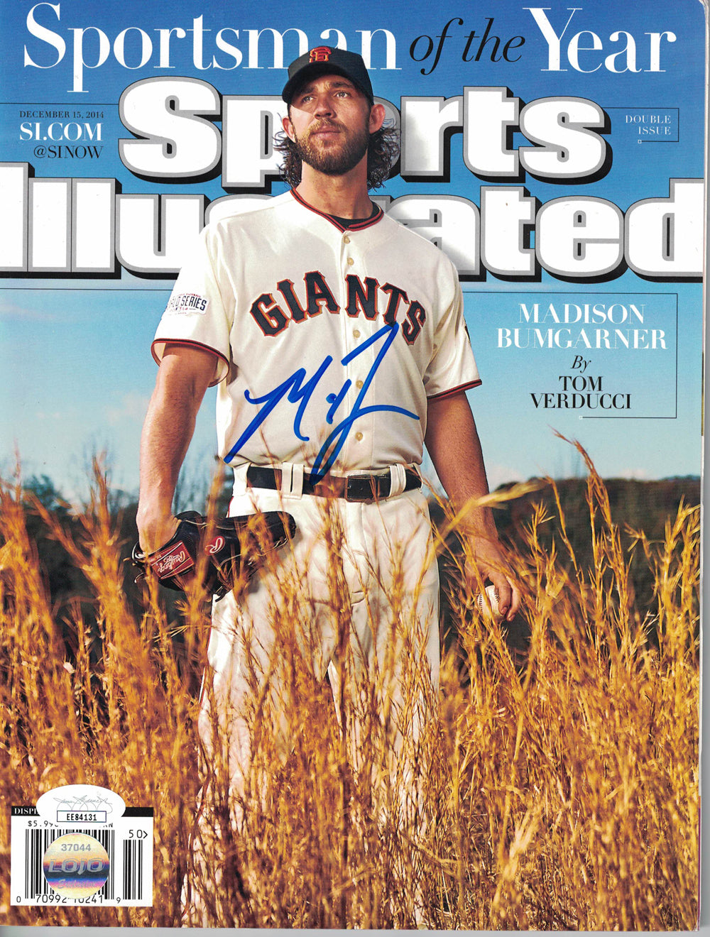 Madison Bumgarner Signed San Francisco Giants Sports Illustrated JSA PSM-Powers Sports Memorabilia