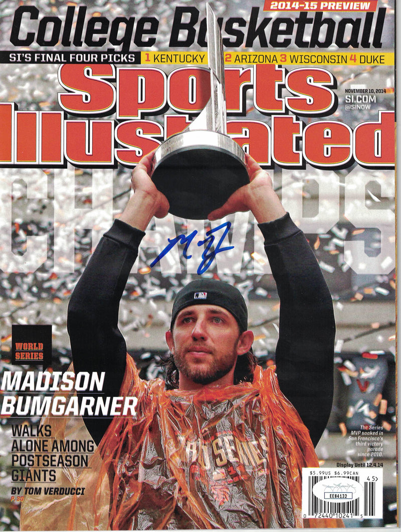 Madison Bumgarner Signed San Francisco Giants Sports Illustrated MVP JSA PSM-Powers Sports Memorabilia