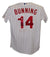 Jim Bunning Signed Philadelphia Phillies Majestic White 48 Jersey HOF JSA PSM-Powers Sports Memorabilia