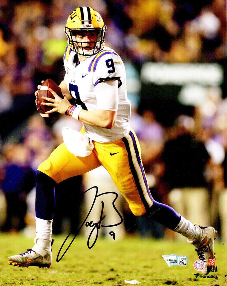 Joe Burrow Signed LSU Tigers Roll Out Action 8x10 Photo PSM-Powers Sports Memorabilia