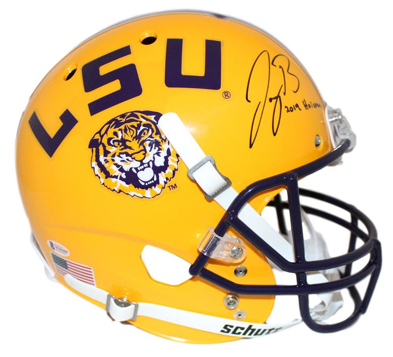 Joe Burrow Autographed LSU Tigers Yellow Replica Helmet Heisman BAS PSM-Powers Sports Memorabilia