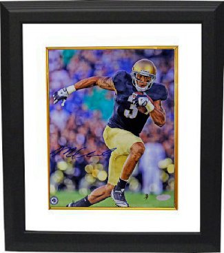 Michael Floyd signed Notre Dame Fighting Irish 8x10 Photo Custom Framing - Steiner Hologram PSM-Powers Sports Memorabilia