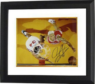 Dennis Rodman signed Chicago Bulls 16x20 Photo Custom Framing PSM-Powers Sports Memorabilia