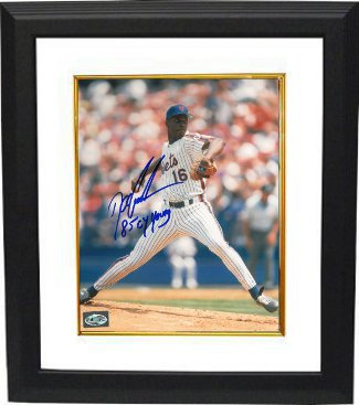 Doc Gooden signed New York Mets 8x10 Photo Custom Framing w/ 85 CY Young Inscription PSM-Powers Sports Memorabilia
