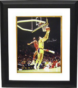 Jerry West signed Los Angeles Lakers 16X20 Photo Custom Framed PSM-Powers Sports Memorabilia