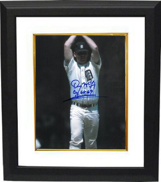Denny McLain signed Detroit Tigers 8x10 Photo Custom Framing w/ CY 68-69 PSM-Powers Sports Memorabilia
