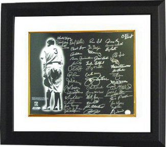New York Yankees signed 16x20 Photo Custom Framing Babe Ruth w/ 48 sigs- BAS Holo- Tony Kubek/Bob Turley/Bobby Richardson PSM-Powers Sports Memorabilia