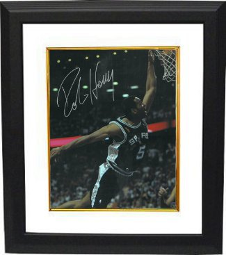 Robert Horry signed San Antonio Spurs 16x20 Photo Custom Framing - Leaf Authentics Hologram PSM-Powers Sports Memorabilia