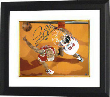 Dennis Rodman signed Chicago Bulls 16X20 Photo Custom Framing - Leag Authentics w/ Charles Oakley PSM-Powers Sports Memorabilia