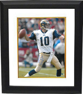 Marc Bulger signed St. Louis Rams 16X20 Photo Custom Framing - Bulger Hologram PSM-Powers Sports Memorabilia