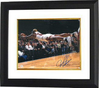 Dennis Rodman signed Chicago Bulls 16X20 Photo Custom Framing - JSA Hologram (Dive-Blue sig) PSM-Powers Sports Memorabilia