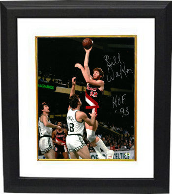 Bill Walton signed Portland Trail Blazers 8x10 Photo Custom Framed HOF 93 PSM-Powers Sports Memorabilia