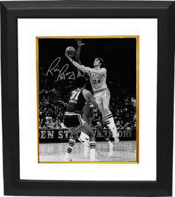 Rick Barry signed Golden State Warriors 8x10 B&W Vintage Photo Custom Framed PSM-Powers Sports Memorabilia