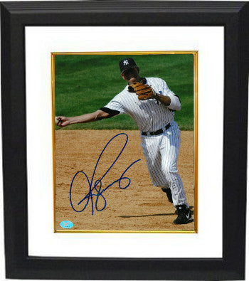 Alex Rodriguez signed New York Yankees 8x10 Photo Custom Framed (full sig)- Rodriguez & BAS-Beckett Holograms PSM