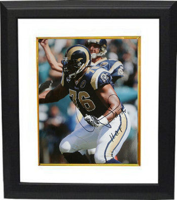 Orlando Pace signed St. Louis Rams 16x20 Photo HOF Custom Framed PSM-Powers Sports Memorabilia